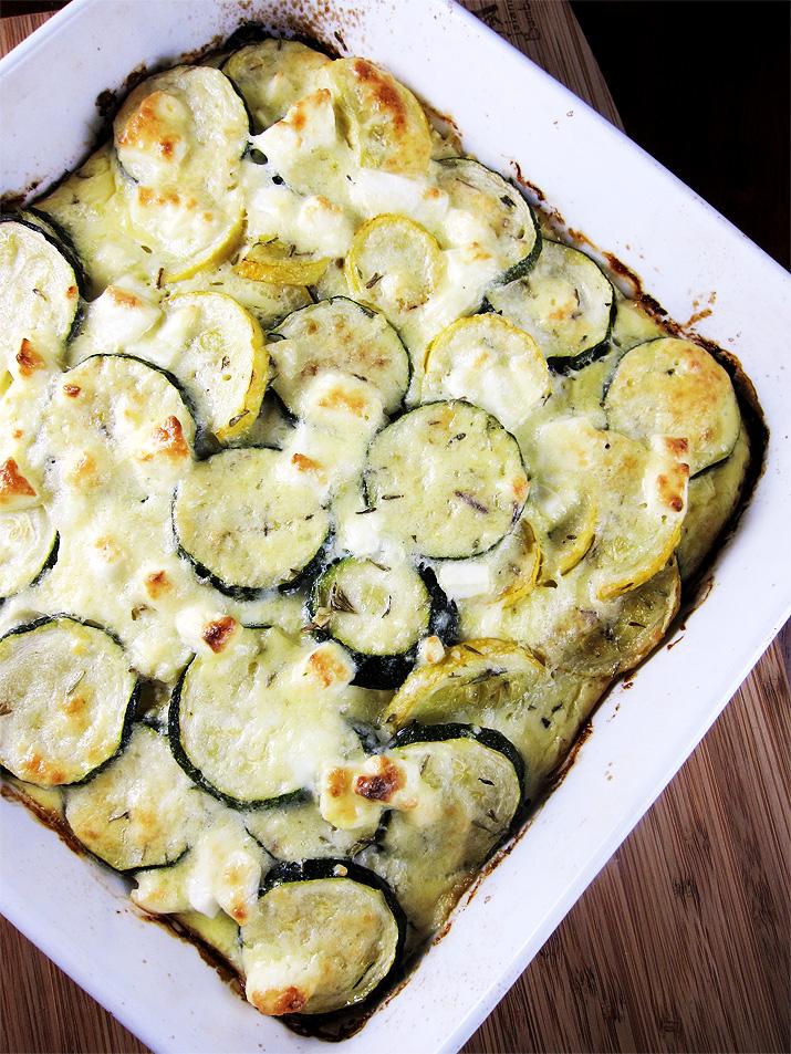 Zucchini Bake with Feta Cheese