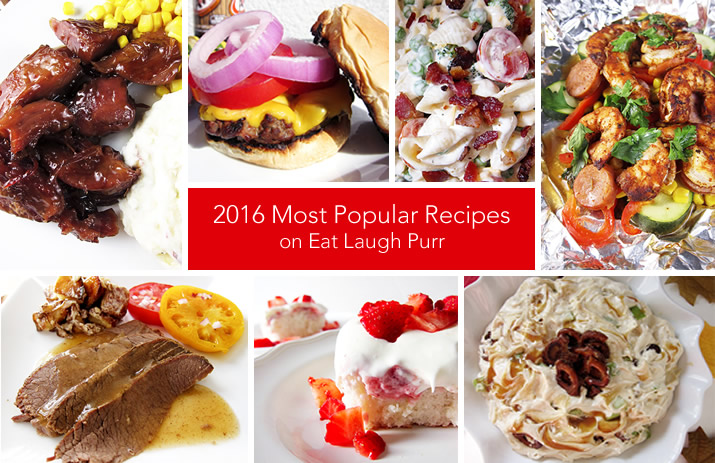 2016 Most Popular Recipes on Eat Laugh Purr
