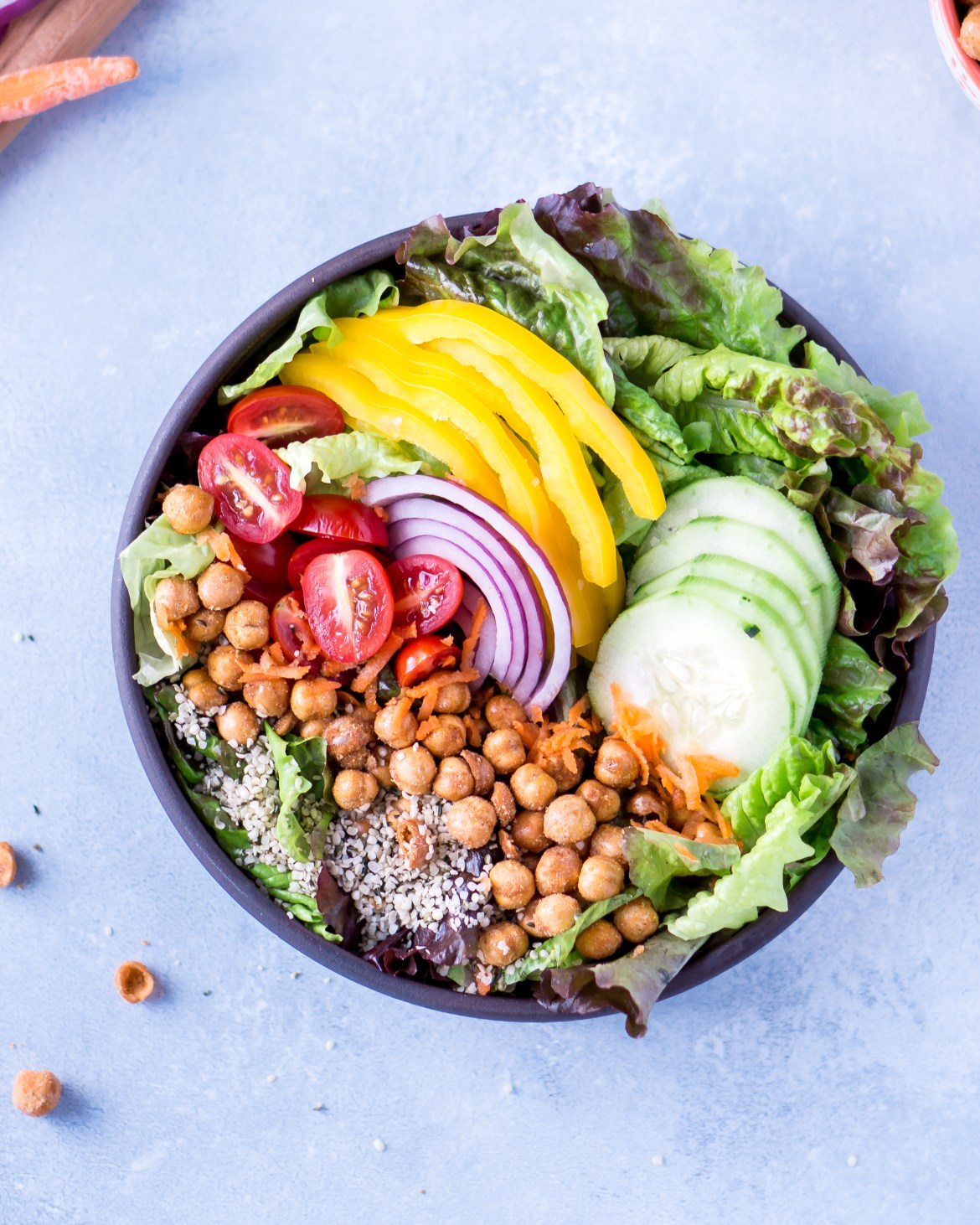 Every Day Colorful Salad with Homemade Balsamic Vinaigrette