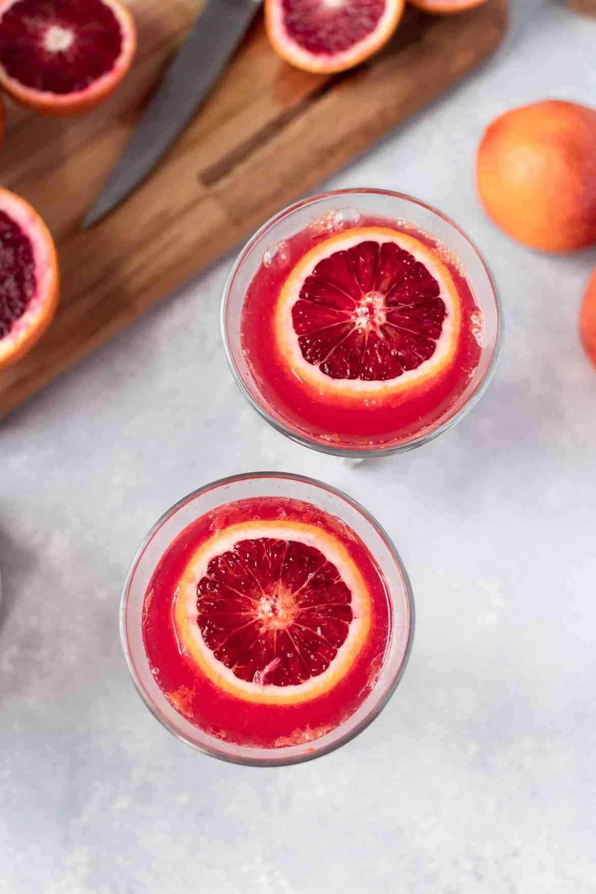 Simple and Delicious Blood Orange Mimosas