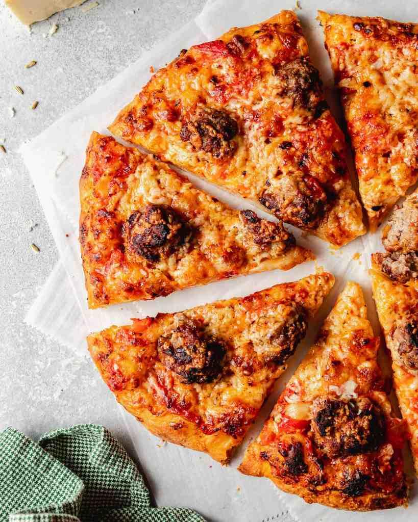 Simple Homemade Meatball Pizza Recipe