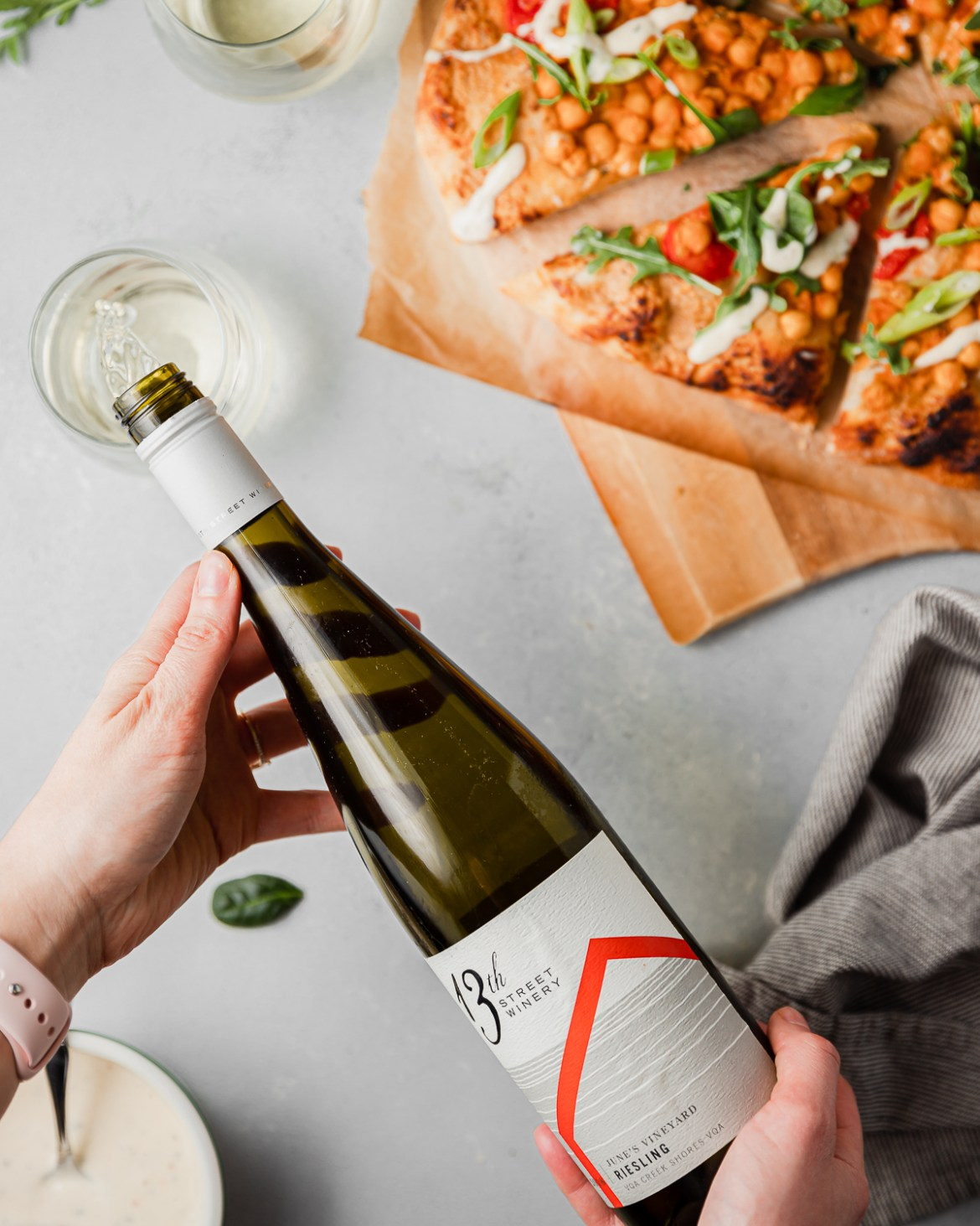 13th street winery bottle of Riesling
