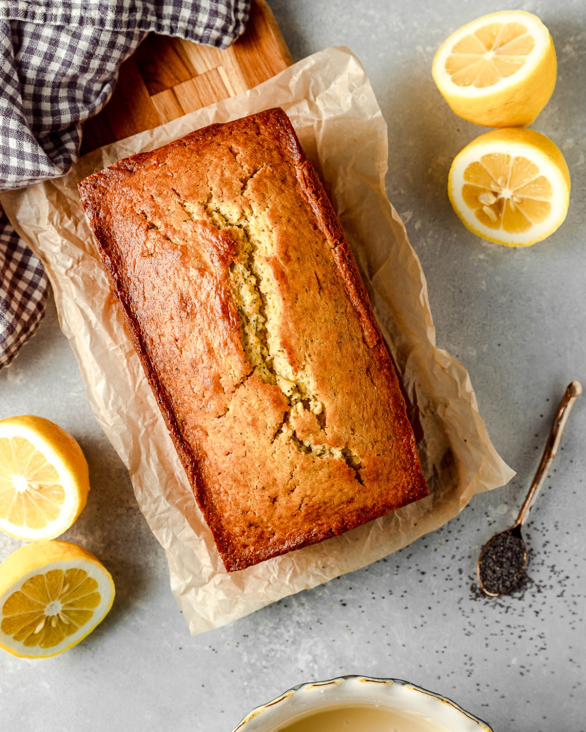 Poppy Seed Pound Cake with lemons