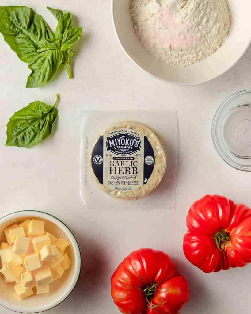 vegan tomato galette ingredients