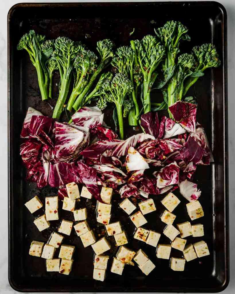 Broccolini, Radicchio and Tofu