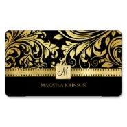 elegant damask business cards