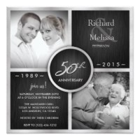 wedding anniversary photo templates invitations