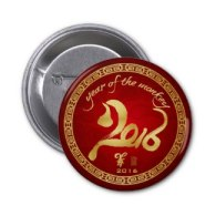 year of the monkey buttons and pins