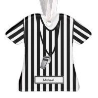 personalized referee t-shirt christmas ornaments