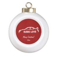 subaru wrx impreza sti christmas ornaments