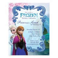 Disney birthday party invitations Frozen
