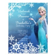 disney frozen Elsa birthday party invitations