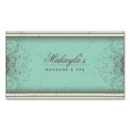 custom floral damask business cards