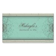 custom floral damask business cards