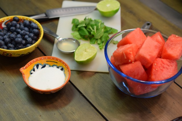 Watermelon Mint Blueberry Popsicles Ingredients