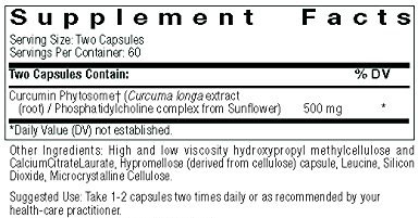 Supplement Facts of Thorne Meriva-SF