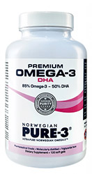 Image of Bottle of Premium Omega-3 Norwegian Pure-3