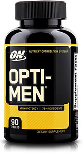 Image of Optimum Nutrition bottle of Opti-Men.
