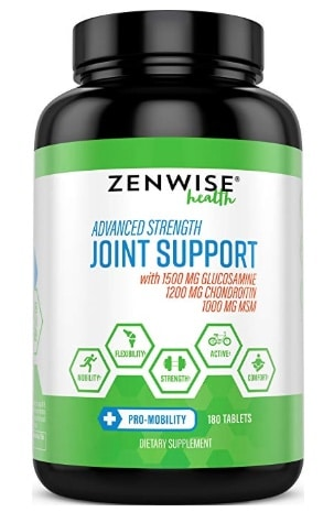 A photo of the Zenwise Joint Support supplement.