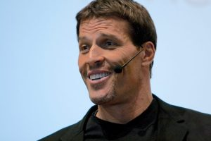 Tony Robbins with Microphone