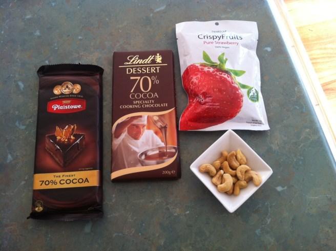 Chocolate Truffles with Sweet Strawberry Dukkah