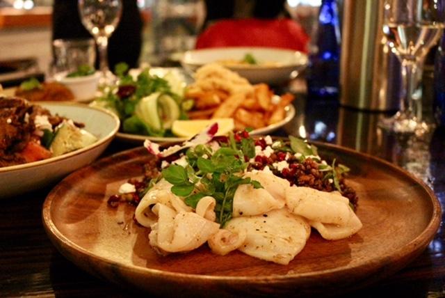 squid salad at The Publics Corner Dandenong