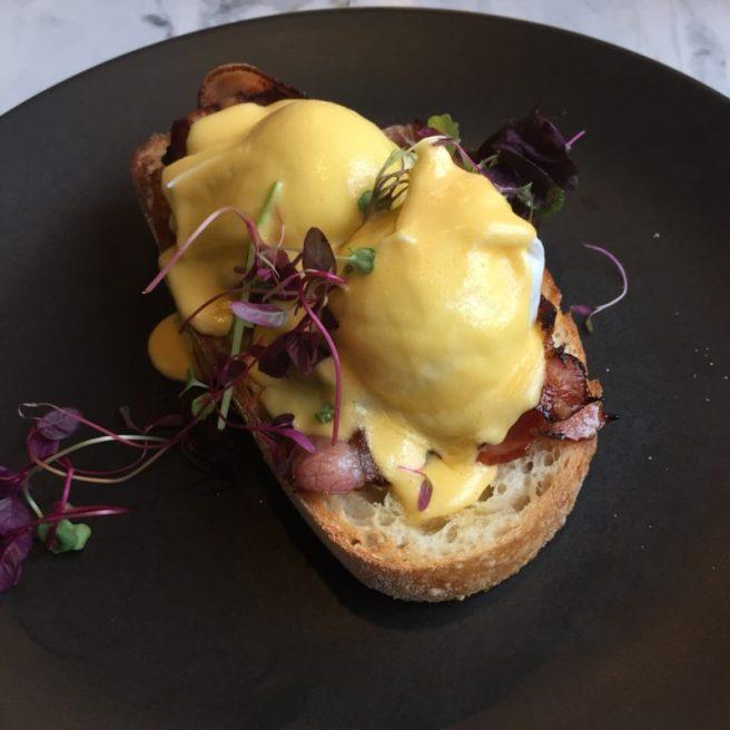 eggs benedict at Riddik Cafe Templestowe