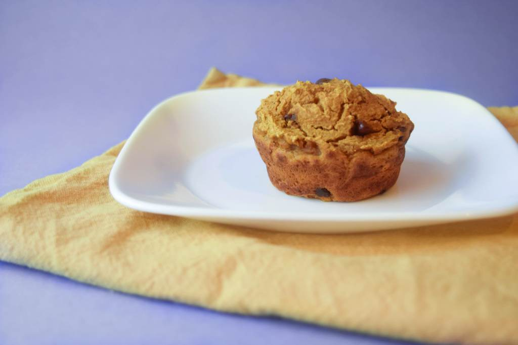 one bowl gluten free pumpkin muffin