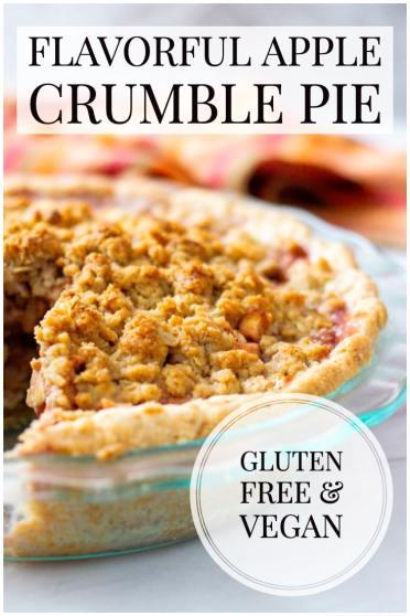 apple crumble pie gluten free and vegan