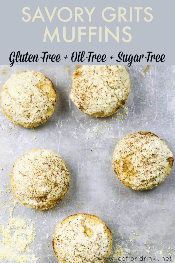 savory grits muffins oil free gluten free