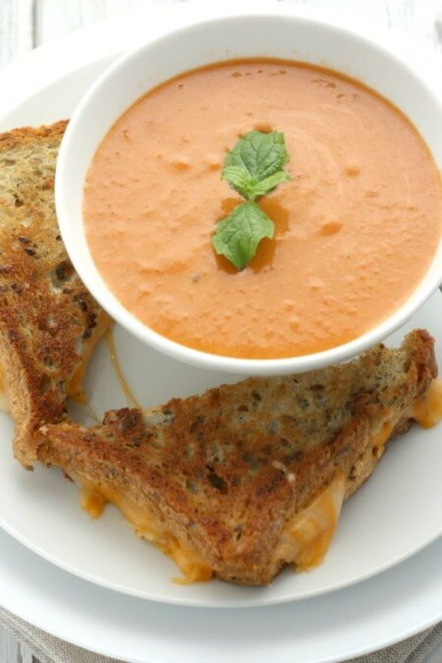 quick weeknight dinner creamy dairy free tomato soup