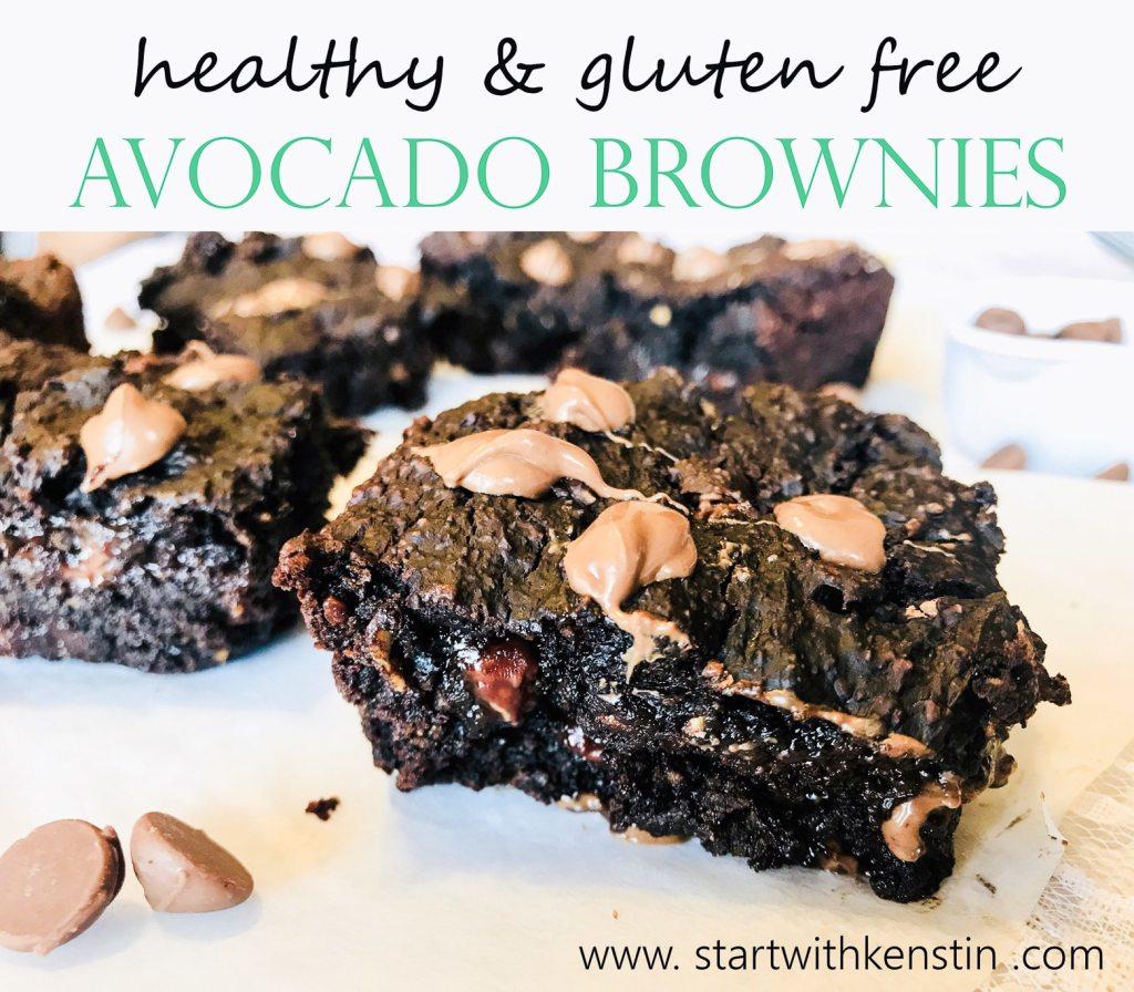 healthy avocado brownies