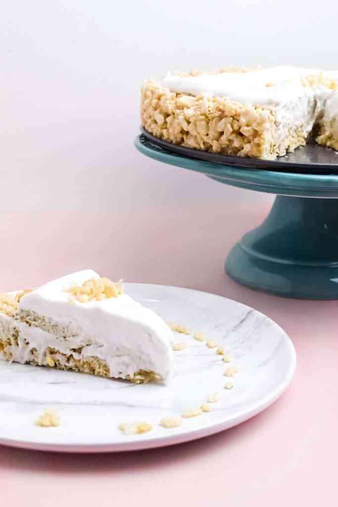 gluten free rice krispie cheesecake