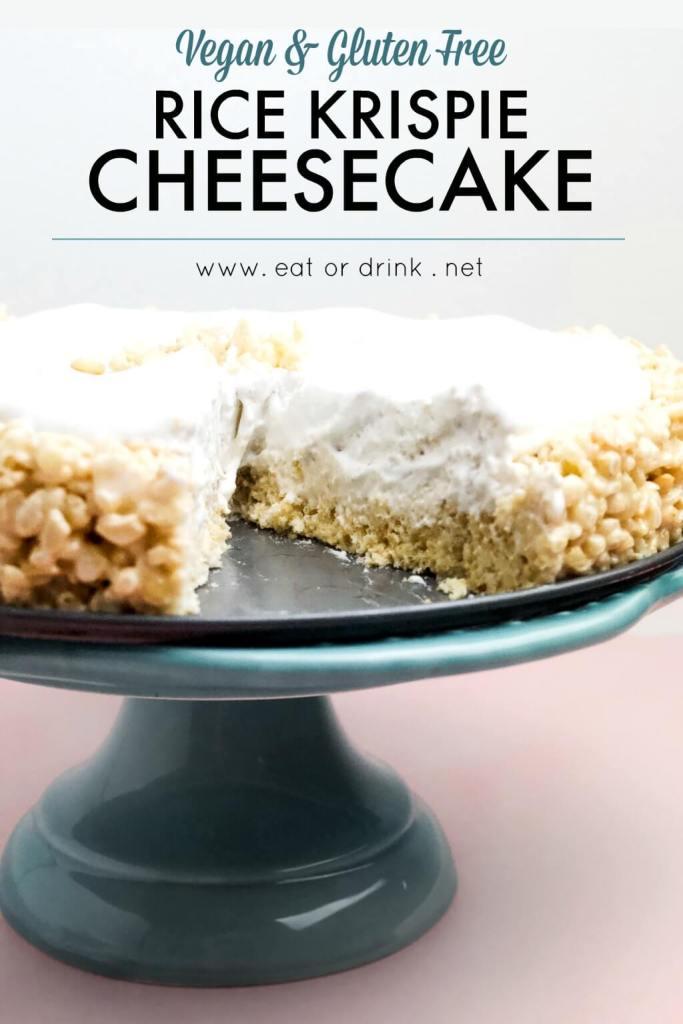 vegan rice krispie cheesecake