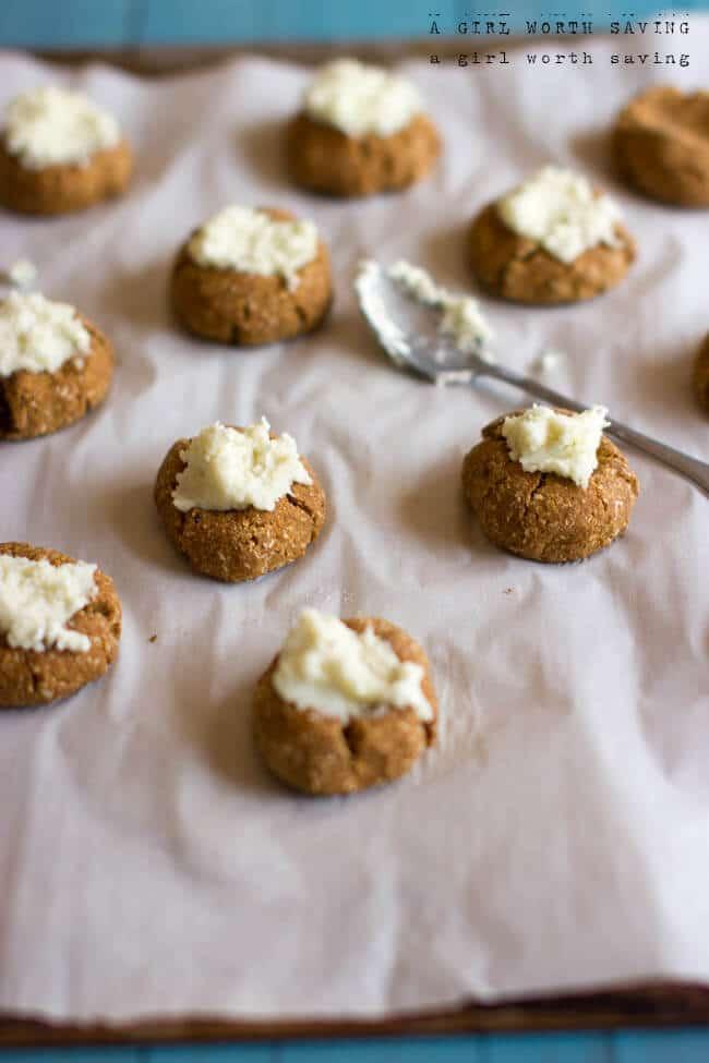 pumpkin spice thumprint cookies sugar free dessert recipe