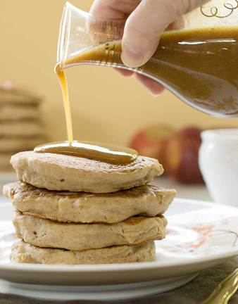 gluten free vegan teff apple pancakes recipe