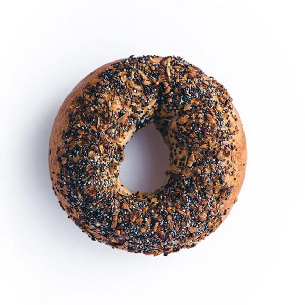 The Greater Knead Everything Bagel as pictured on their website for gluten-free food replacement guide