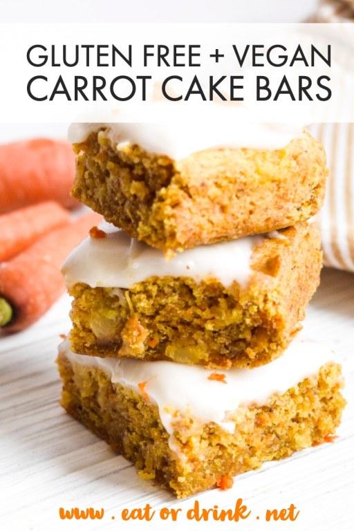 gluten free carrot cake bars