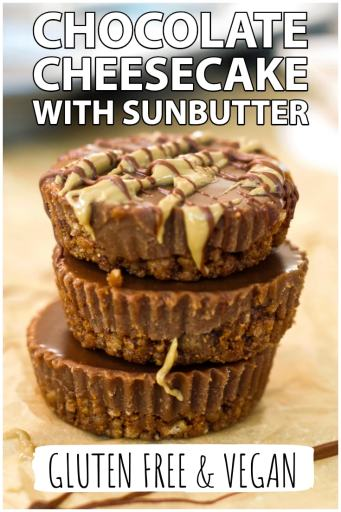 chocolate cheesecake with sunbutter gluten free and vegan no bake vegan cheesecake recipe