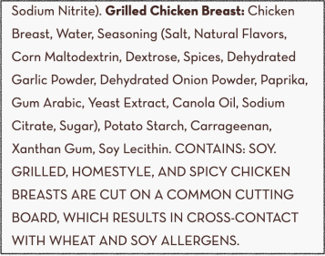 grilled chicken cross contamination warning