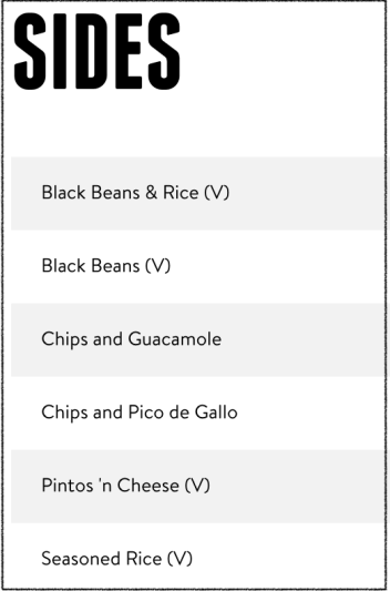 Gluten Free Sides at taco bell