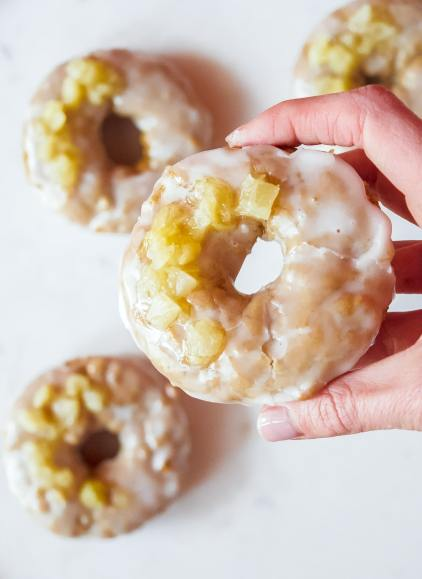 gluten free vegan pineapple doughnuts