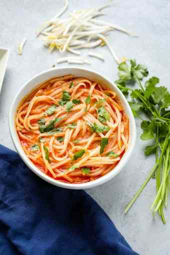 coconut curry noodle bowl for easy dinner