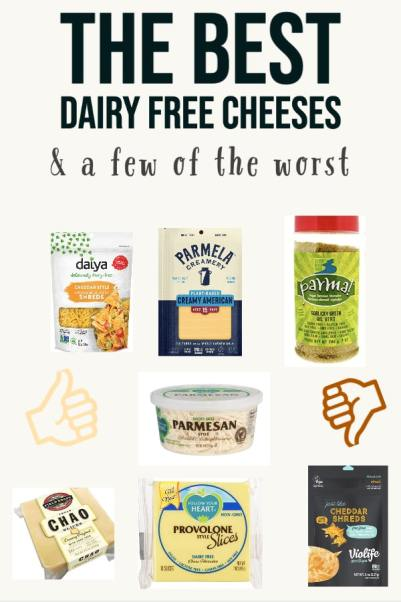 the best dairy free cheeses and a few of the worst