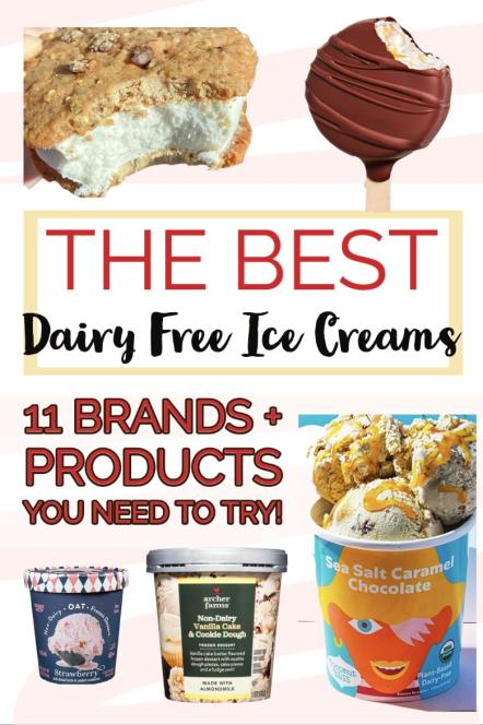 """""""the best dairy free ice creams; 11 brands + products you need to try!"""""""
