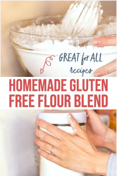 Homemade Gluten Free Flour Blend - great for all recipes