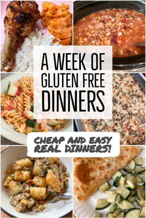 A week of gluten free dinners - cheap and easy real dinners