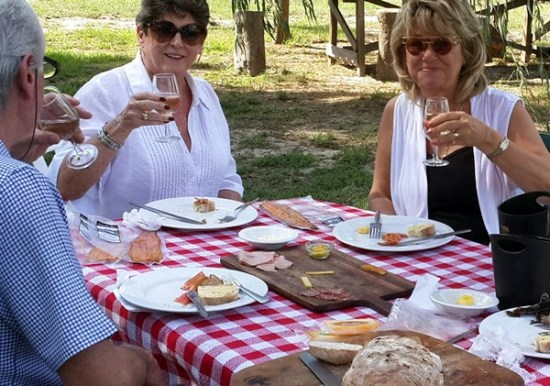 People enjoying a picnic at  Aphrodisiac Shack and Smokehouse. Photo supplied.