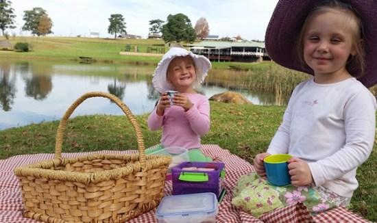 Children enjoying their picnic at St Ives Restaurant. Photo supplied.