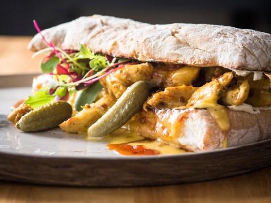 A chicken mayo sandwich at Carlton Café Delicious. Photo supplied.
